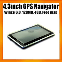 MTK Chipset China Cheapest 4.3inch Portable Car navigator GPS Box with Free GPS Maps