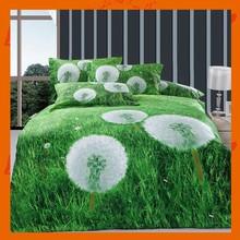Colorfast 4pcs Luxury Bed Sheet Set 100% Cotton Floral Dandelion Digital Printing