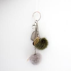 Myfur Fashion Design Luxury Mink Fur Key Chain For Bag Charm