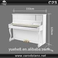 CW23 para venta, precios de piano blanco, instrumento musical con tapa para piano vertical