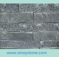 lava stone brick honed