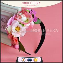 Atacadista tecido hibiscus / gebera flores headband crown