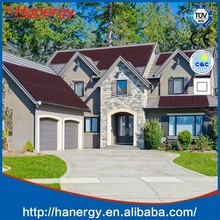 Hanergy solar panels with 12kw inverter for home on sloping roof