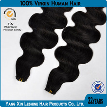 Best sell !!! good quality silky better price body wave 100% virgin Indian hair weaving