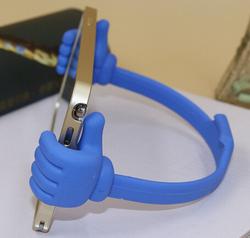 OK cell phone and tablet holder for desk, smart desk, grippy phone holder