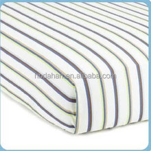 100% cotton printed baby crib fitted sheet