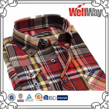 2016 new designer Spring Casual Plaid Shirts Long Sleeve Brushed flannel children shirt