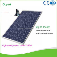Photovoltaic pv solar panel / solar module 250W for 10KW / 15KW / 20KW / 30KW / 50KW / 100KW/ 500KW solar system