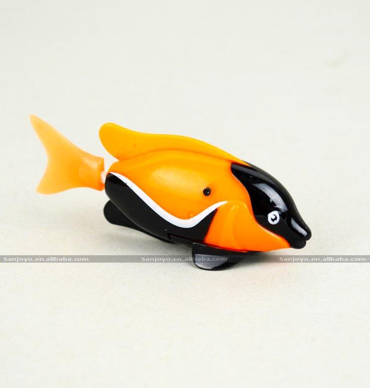 Jouet de bain flottant de natation rc jouet robot poisson for Mini poisson aquarium