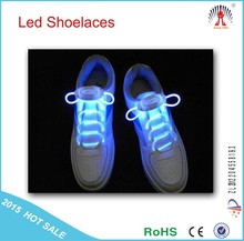 2015 Hot sell LED Flashing shoelaces / led light up shoelaces wholesale / led lighting shoelaces for party & dance show