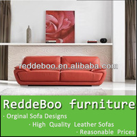 2015 modern leather chaise lounge two seat sofa