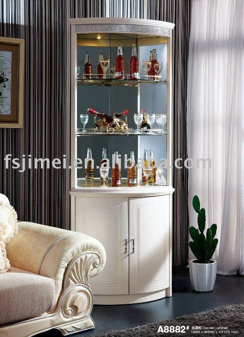 Corner cabinet for dining room