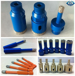 Brazed diamond external/internal thread core drill bit, round/hexagon handle core drill, quick joint handle drill bit