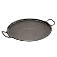 14-inch Black Round Cast Iron Pizza Pan