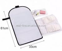 Travel folded diaper bag baby infant diaper changing mat pad portable storage bag Mummy bag