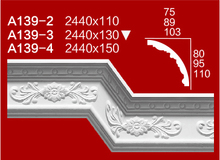 2015 hot sales POPgypsum/plaster building cornices