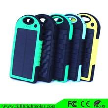 Full capacity 5000mAh portable waterproof Solar Charger for iPhone 6 Plus