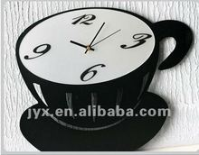 2014 High quality plexiglass cup shaped wall clock