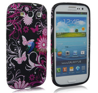 Flower Butterfly Sof TPU Case For Samsung Galaxy S3 i9300/S3 mini