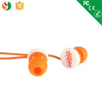 3.5mm color silicone earphone free sample earphones for mobile phone
