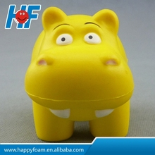 Hippo shape pu free stress ball