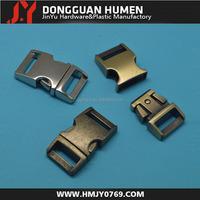 Dongguan jinyu 5/8(15mm) Curved metal side release buckle, Metal quick release clip , bag metal buckle