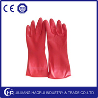 Two colors spray flocking Latex Household Gloves