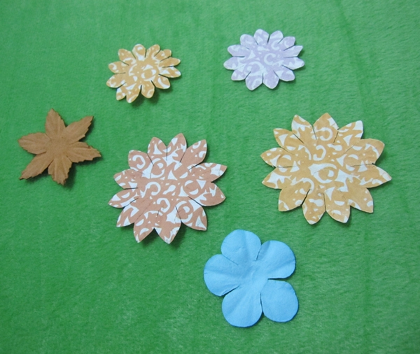 Scrapbook flower chart paper craft decoration buy chart for Chart paper decoration ideas