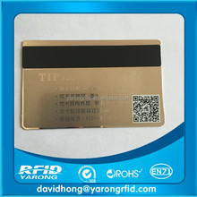 metal business card with Loco magnetic stripe