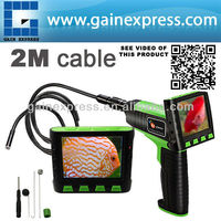 """Wireless / Wired 3.5"""" TFT LCD Video Inspection Snake Scope Borescope Endoscope Camera 2M Cable with 9mm Diameter Slim Camera"""