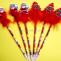 fashion cute cartoon cheap santa claus pen christmas ball pen