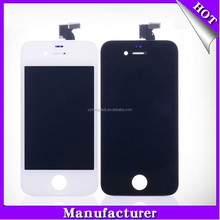 High quality for iphone 4s lcd display with touch digitizer ,smart phone repair parts with frame for iPhone4 4S lcd