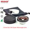Custom super-wide angle mobile camera lenses for cell phone