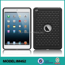 Hybrid 2 in 1 Silicone +PC tablet protective case for iPad mini 4