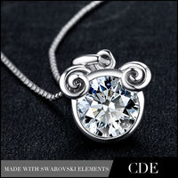 CDE Zodiac Sign Aries Pendants Jewelry 925 Sterling Silver Wholesale China N0287