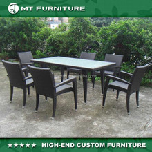 outdoor dining chair and glass dining table furniture