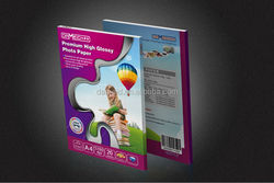 One side glossy printed paper