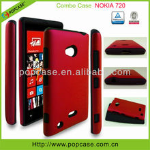 Silicon+pc combo case for nokia lumia 720