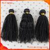 Mongolian Afro Kinky Curly Human Virgin Hair Kinky Curl Sew In Hair Weaves