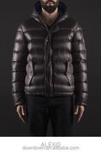 European brand short down coat leather sleeve design down coat newest men down coat