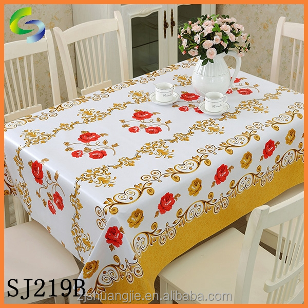 2015 Hot Sale PVC Table Cloth In Rolls For Home And Restaurant