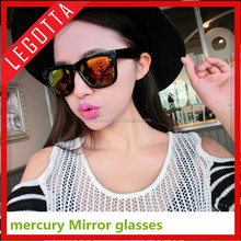 Colorful PC fashionable custom printed mercury mirror sunglass vogue