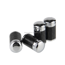 Black Carbon Fiber Tire Wheel Valve Caps with car logo