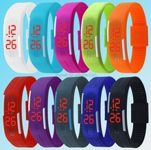 Silicone Strap Popular China Men LED Digital Sports Watches