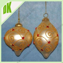 This Christmas ball ornament will look beautiful on your tree decorating christmas clear glass balls with open hole
