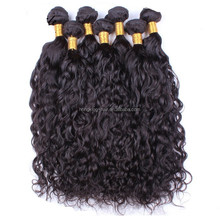 Curly machine weft Remy Virgin Indian 100% Natural Human hair