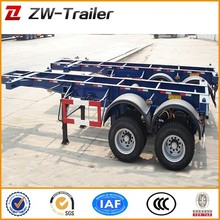 china hot sale 40ft skeleton semi trailer container/truck trailer chassis