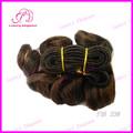 Corto pelucas 100% peruana extensiones de cabello #p1b/33 derramamiento libre rizado