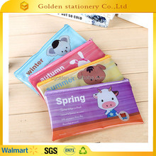 kids plastic Pencil Case with Zipper/Pencil Bag at all seasons
