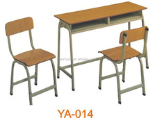 Ergonómico de madera estudio aula doble un escritorio y una silla YA-014
